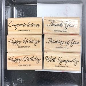 "Stampin' Up! ""Warmest Regards"" Stamp Set"